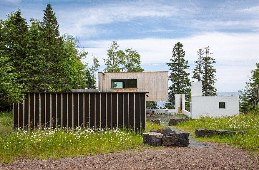 Lake Superior Retreat on Minnesota's North Shore by Salmela Architect