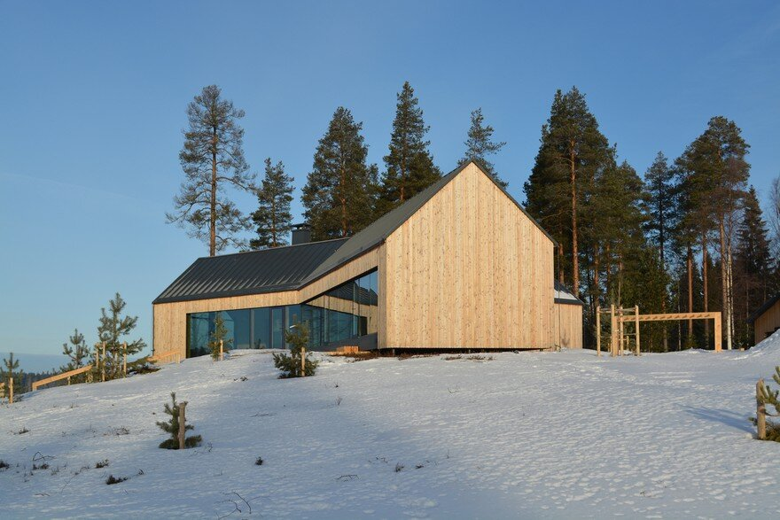 This Modern Finnish House Consists of Three Barns Put Together in a Y Shape