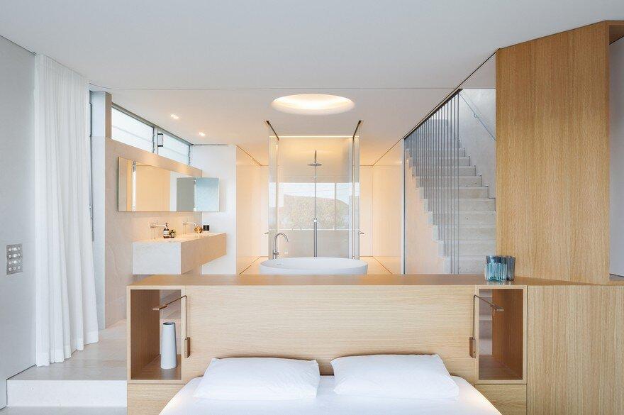 bedroom, bathroom, Marston Architects 8