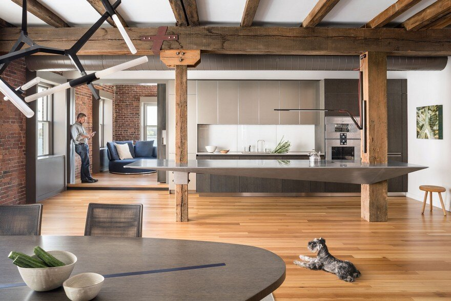 North End Loft: Combination of Three Residential Units into a Single Two-Story Loft