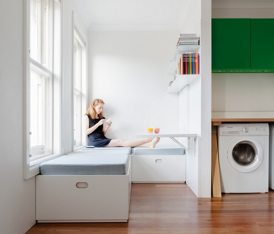Micro Apartment in Sydney Displaying an Optimized 22 Sqm Surface