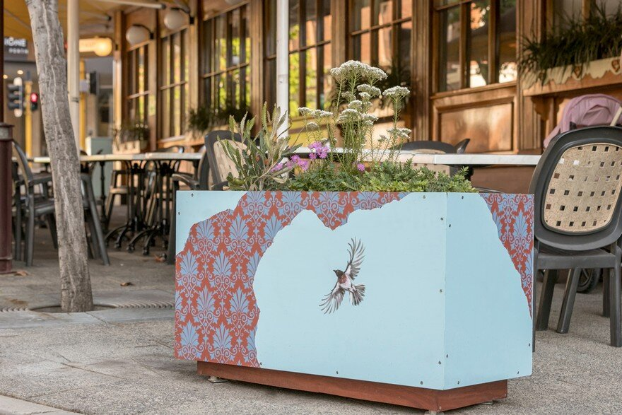 65 Planter Boxes Painted by Australian Artists Have Been Installed in Perth to Revitalize the City 10