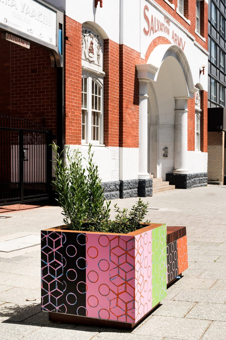 65 Planter Boxes Painted by Australian Artists Have Been Installed in Perth to Revitalize the City 4