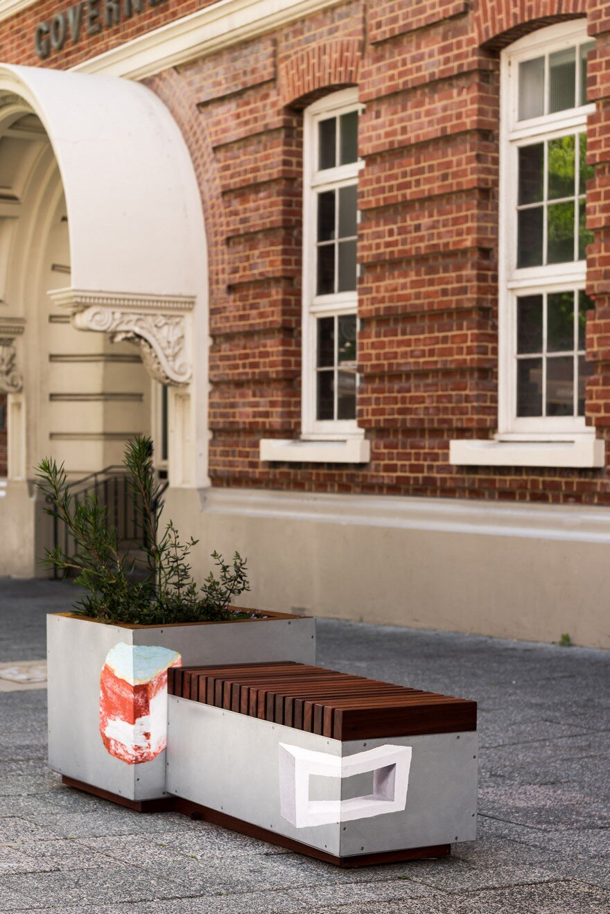 65 Planter Boxes Painted by Australian Artists Have Been Installed in Perth to Revitalize the City 7