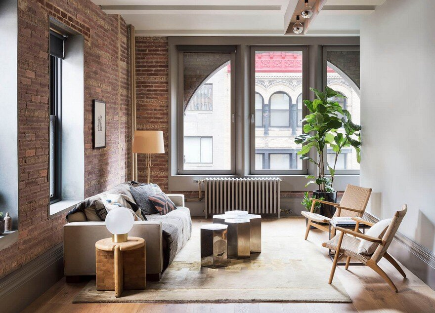 Greenwich Village Loft Made by Combining Two Separate Units in a Heritage Building