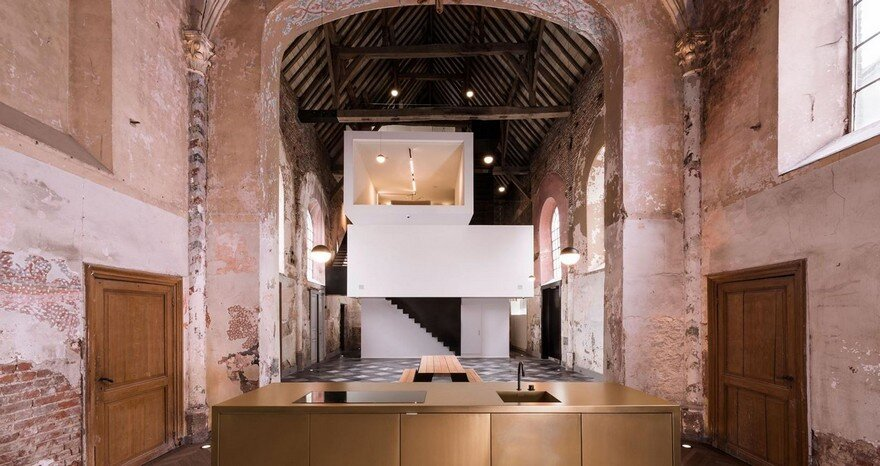 Old Chapel in Belgium Transformed into Office Space