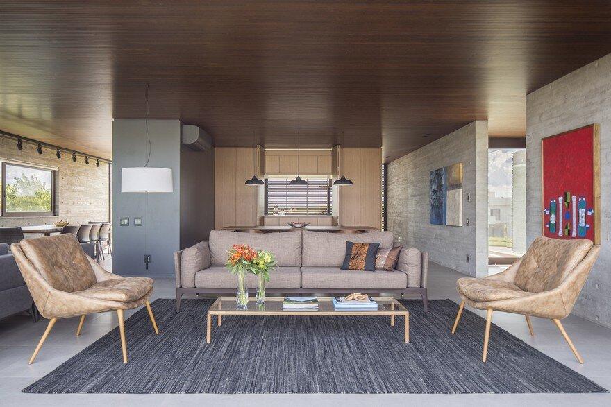living room, ArqBr Arquitetura e Urbanismo