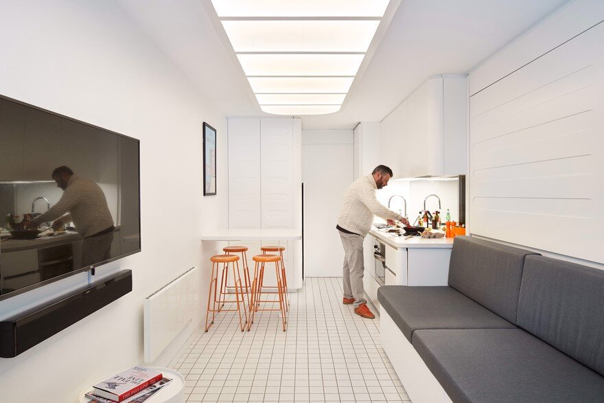 Minimalist Living Space Inspired by the Japanese Nakagin Capsule
