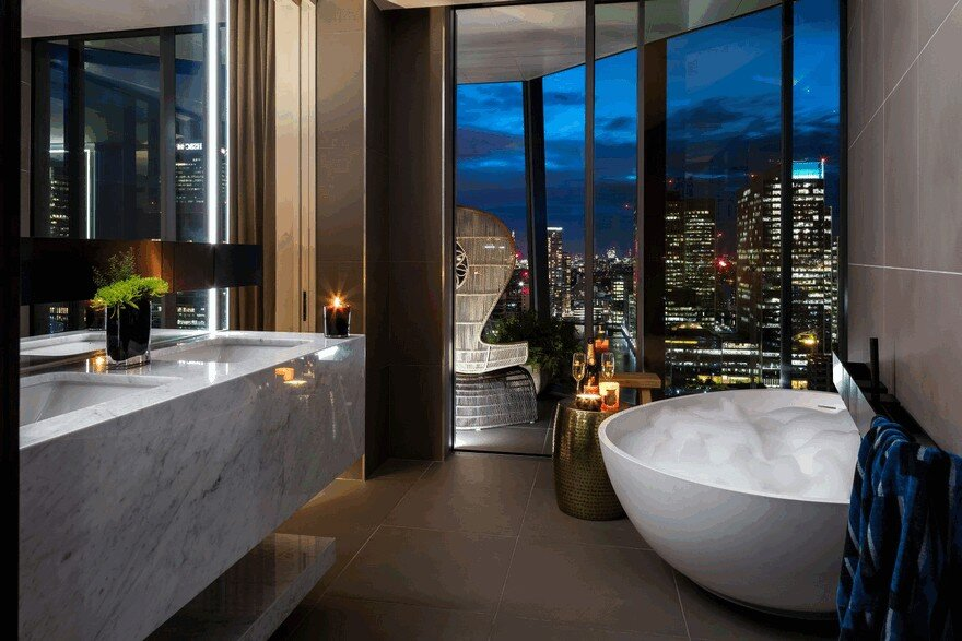Dollar Bay Penthouse in Canary Wharf, London / Daniel Hopwood
