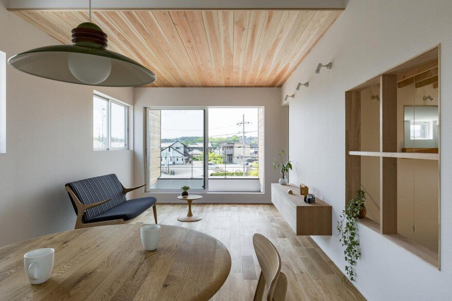 Box,Shaped Japanese Home with Warm Minimalist Interior Design