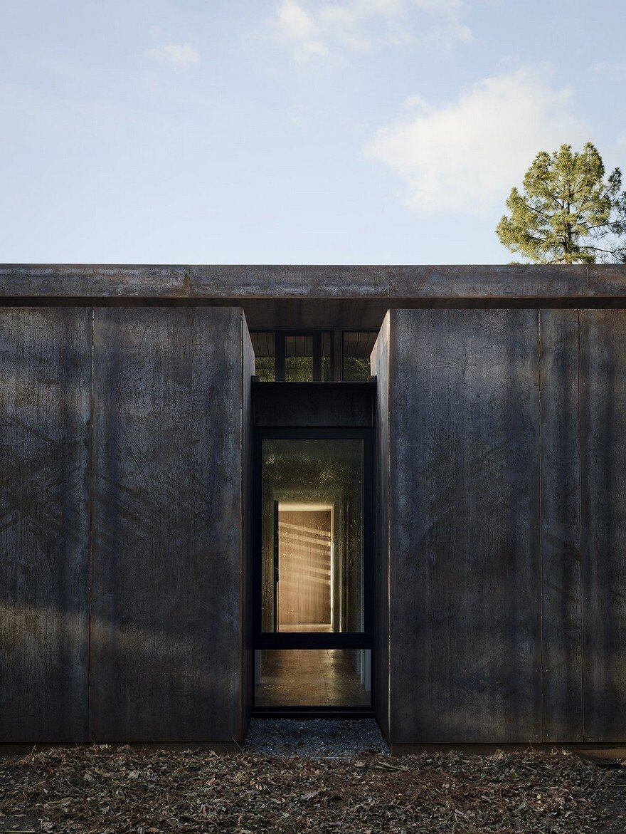 Corten Steel House In Northern California Faulkner