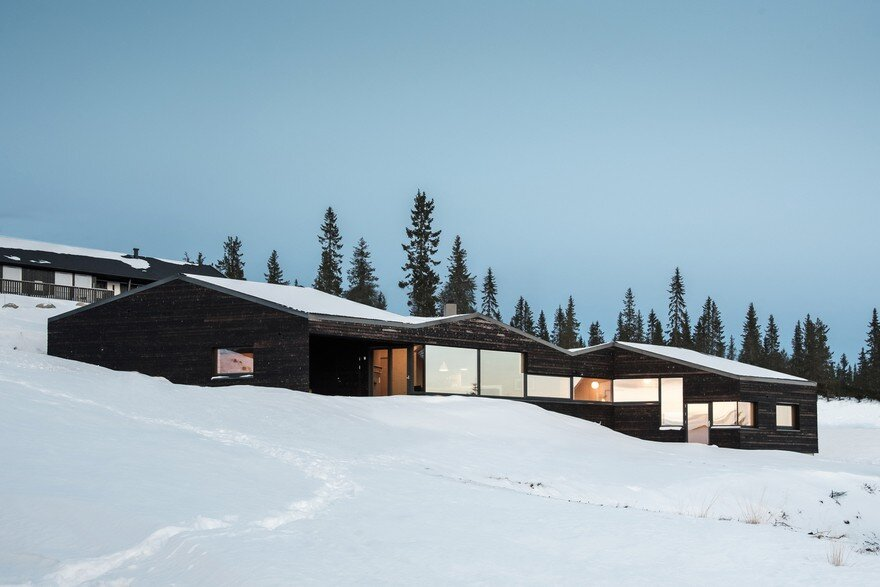 Dark Timber Cabin in Norway's Gudbrandsdalen Valley
