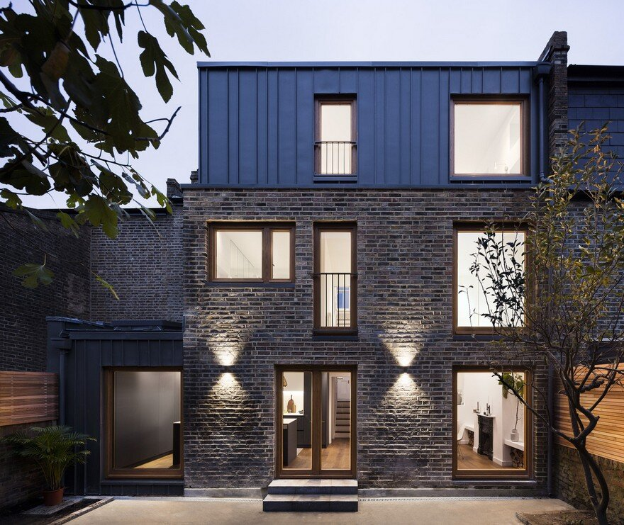 Victorian brick house transformed from dark and cluttered for Brick victorian house