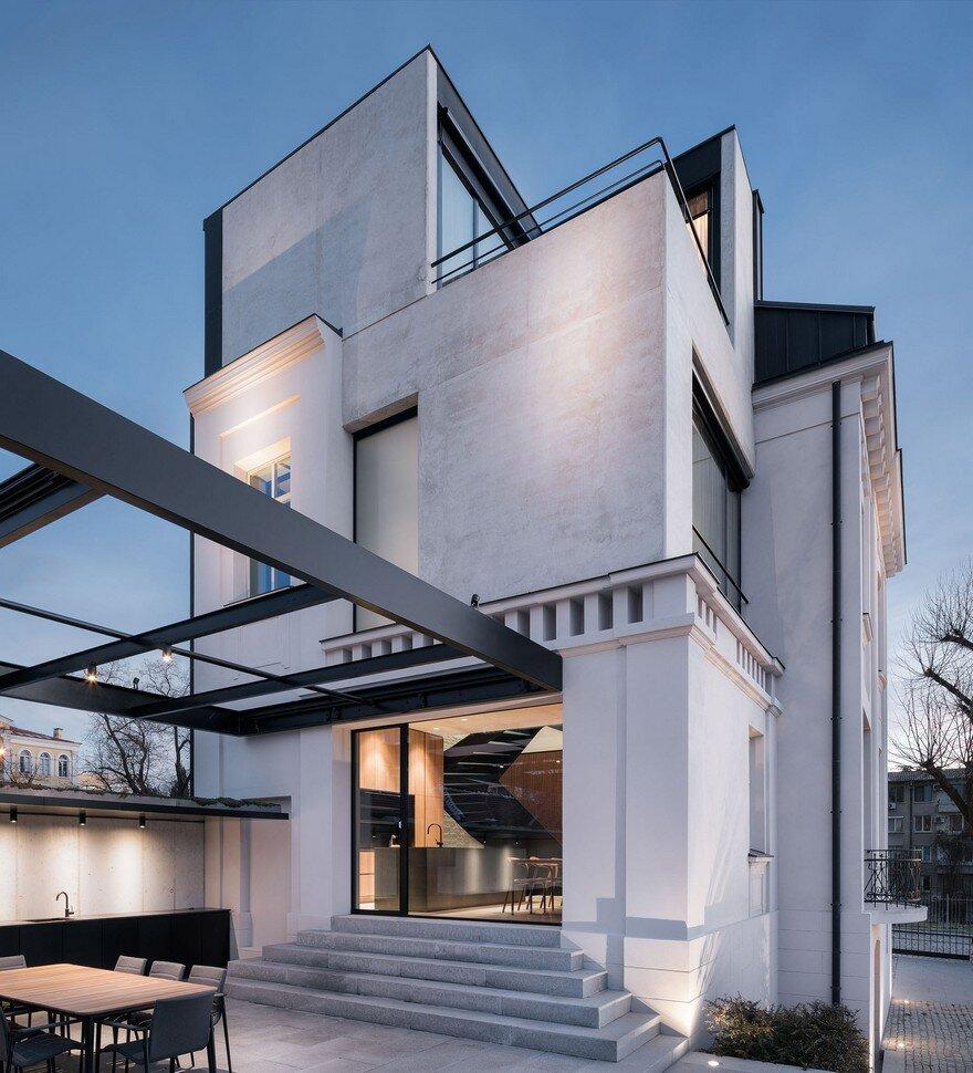 Loft Apartments Augusta Ga: Classic White Concrete House Rebuilt In Stara Zagora, Bulgaria
