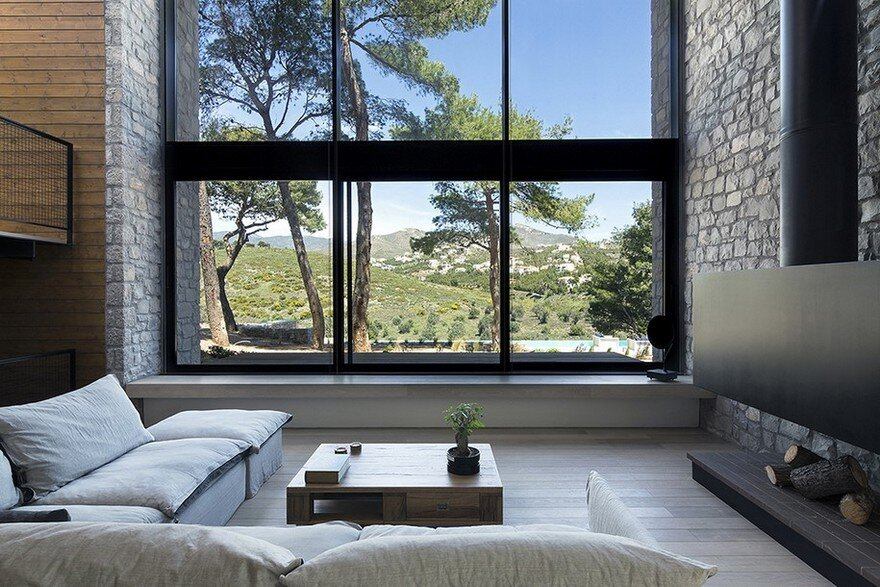 Custom Family Home in Athens that Blends with its Natural Environment