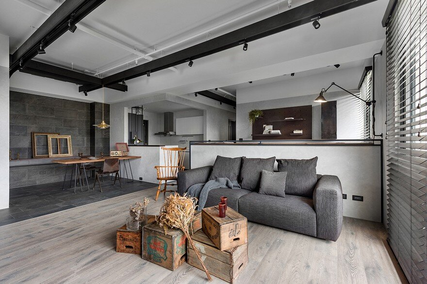 The Design Home Of Industrial Style Home In Taiwan Enhanced By Textural Diversity
