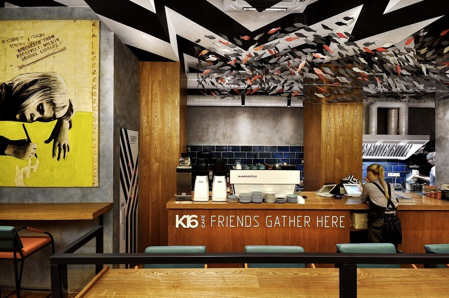 K16 Cafe in Perm, Russia / ALLARTSDESIGN