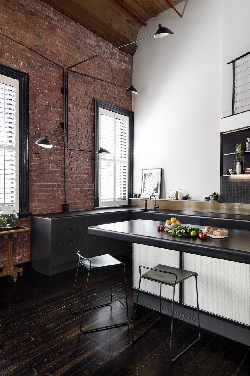 Oxford Street Apartment Featuring An Industrial Aesthetic