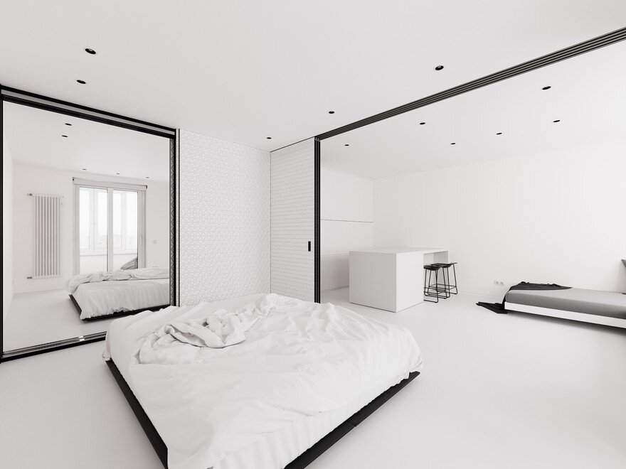 Minimalist Small Apartment in Moscow Designed in White 1