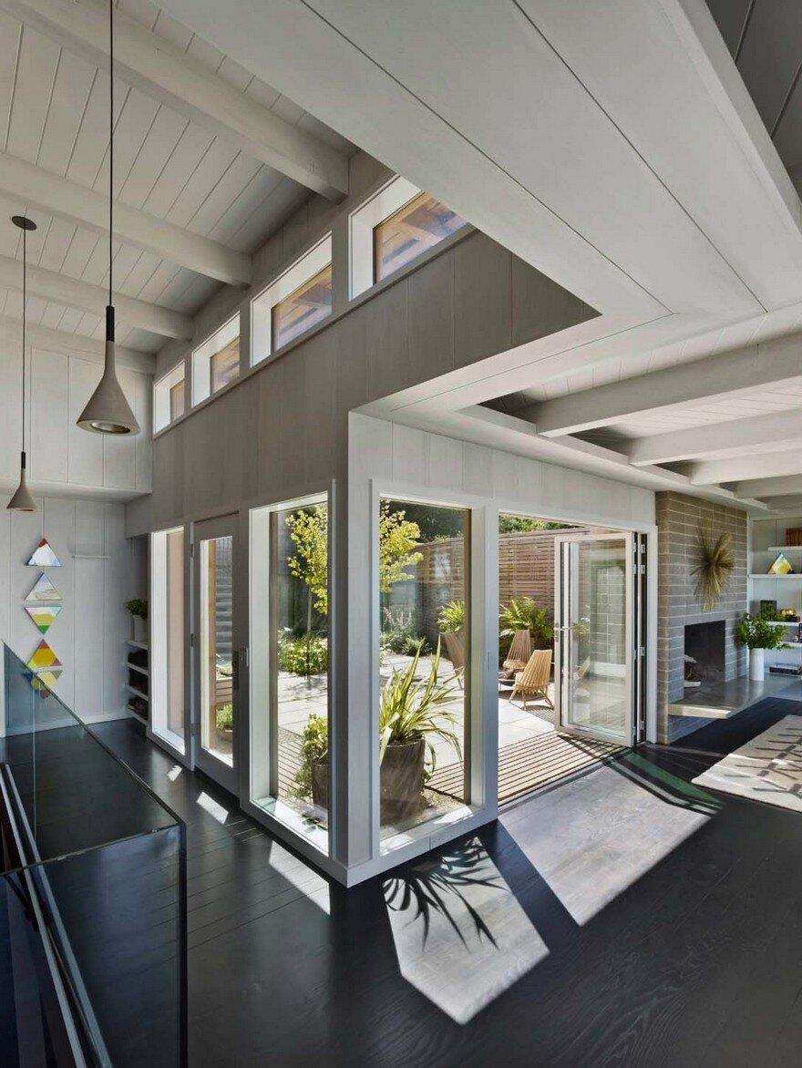 Mid Century Modern Ceiling Light Fixture: Mid-Century Modern Home Renovation In Berkeley Hills