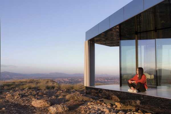 Small Glass Cabin in Gorafe Desert, Spain by OFIS Architects