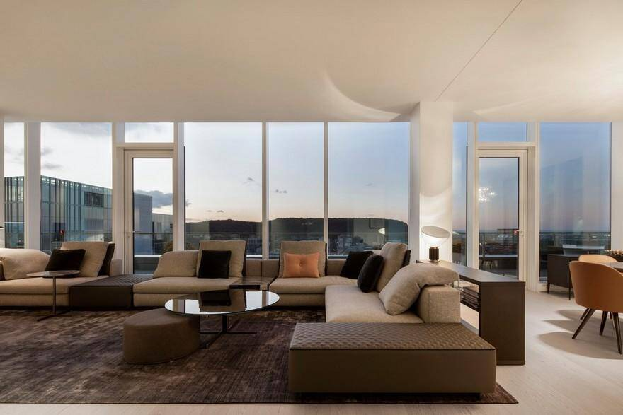 Belvedere Penthouse In Downtown Montreal Desjardins Bherer - Downtown-montreal-penthouse-by-rene-desjardins