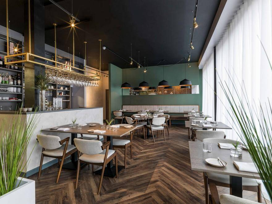 Folium Restaurant in Birmingham City Centre / Faber Design