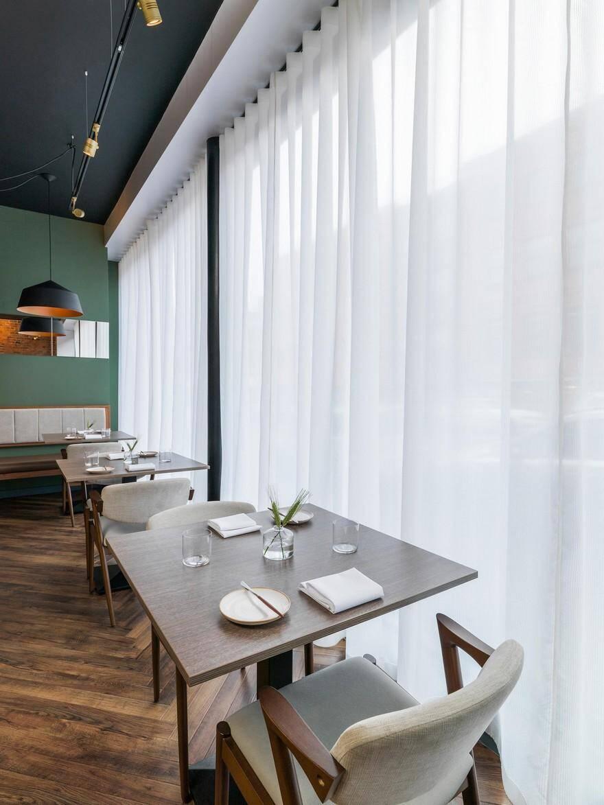 Folium restaurant in birmingham city centre faber design
