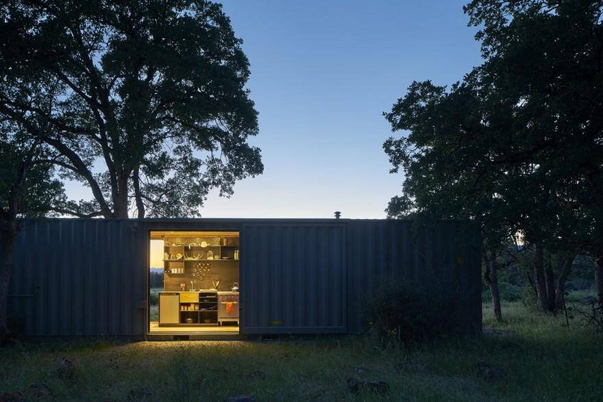 Shipping Container Trailer >> 40' Highboy Shipping Container Turned into a Cozy Hunting ...
