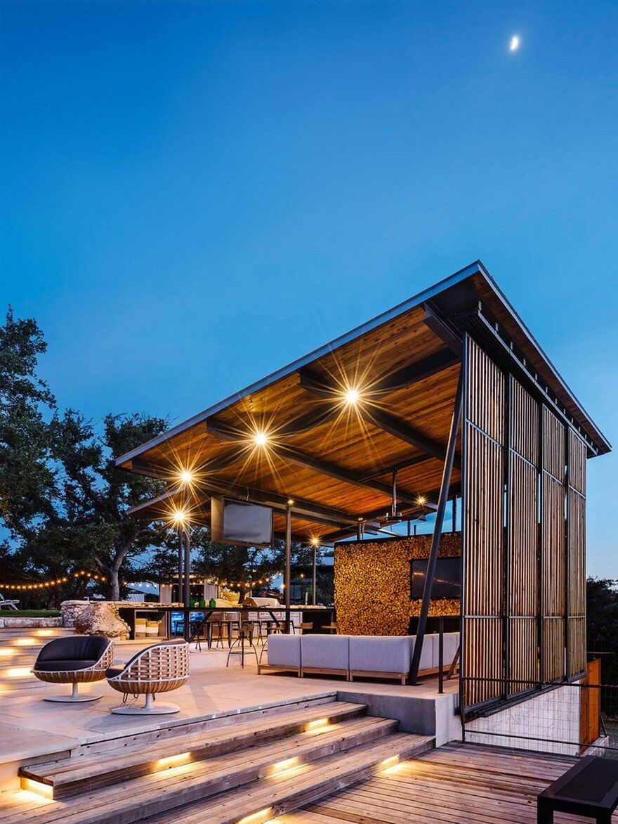 Ranch Remodel And Pool Pavilion In Texas Drophouse And