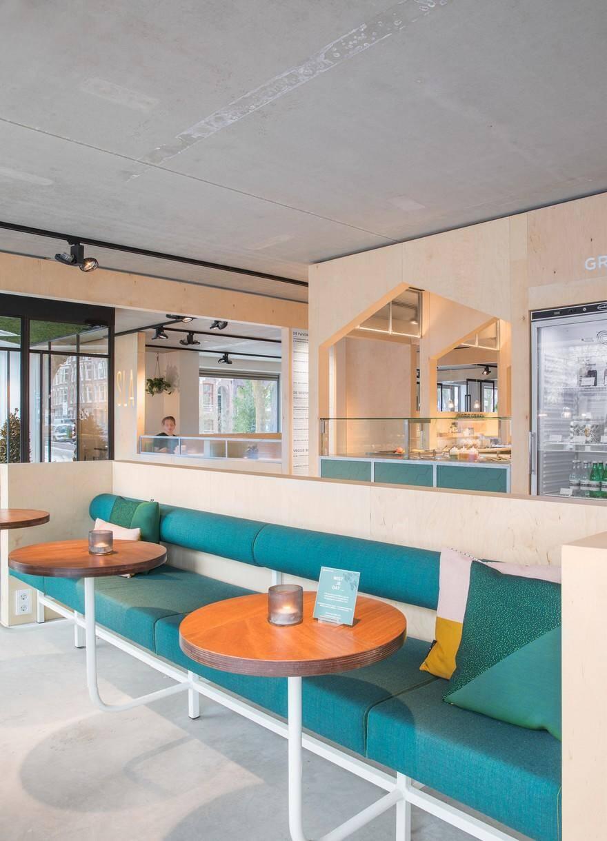 Interior Design Studio Amsterdam salad bar in amsterdam - sla amstelveenseweg by standard studio