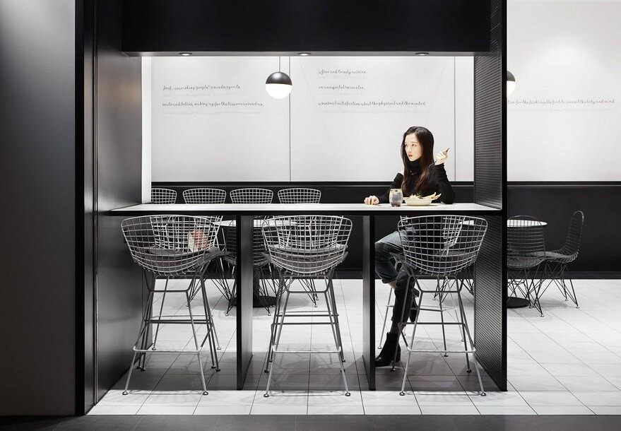 A Minimalist, Intriguing Dining Space Designed by Leaping Creative for Fashion Retail Brand TFD