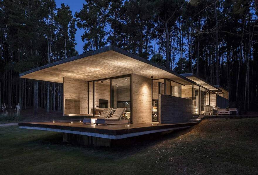 Forest Concrete House by Besonias Almeida Arquitectos