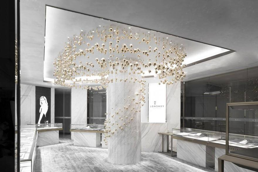 Lonshry Jewelry Art Store – Flowing Bubbles / AD Architecture
