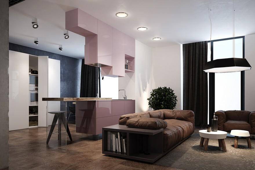 Pink Apartment by Zooi Studio - Different Textures and Unusual Colors 1