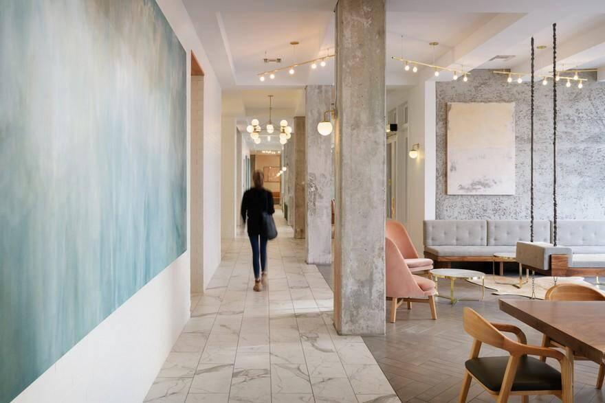 Hi-Lo Hotel Lobby Lounge, Jessica Helgerson Interior Design