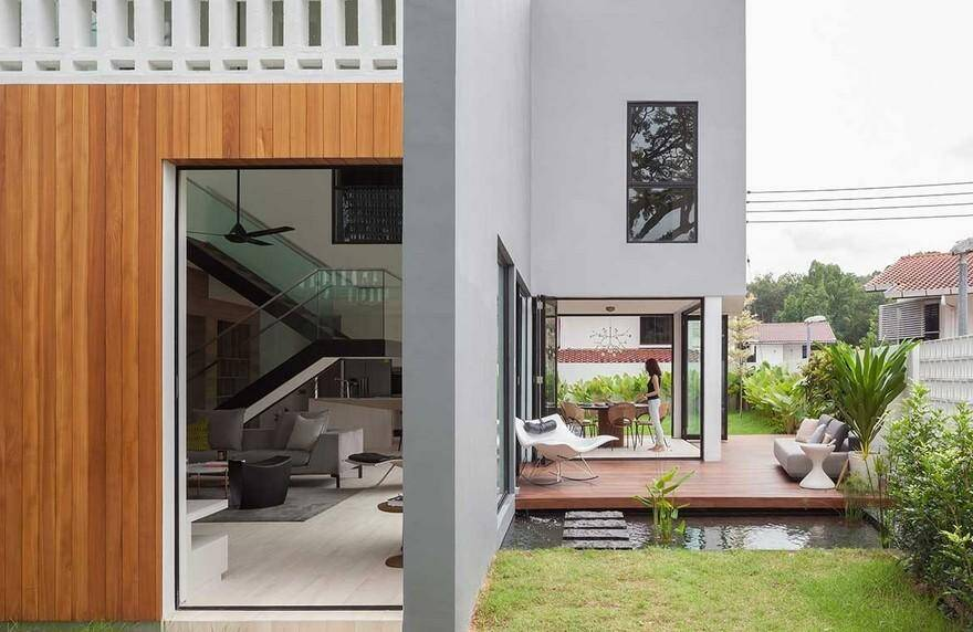 Through Residence, Hier Architects, outdoor