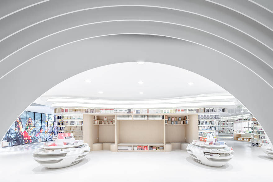 Zhongshu Bookstore Built with 300 Tons of Steel and 30,000 Meters of Light Strips 4