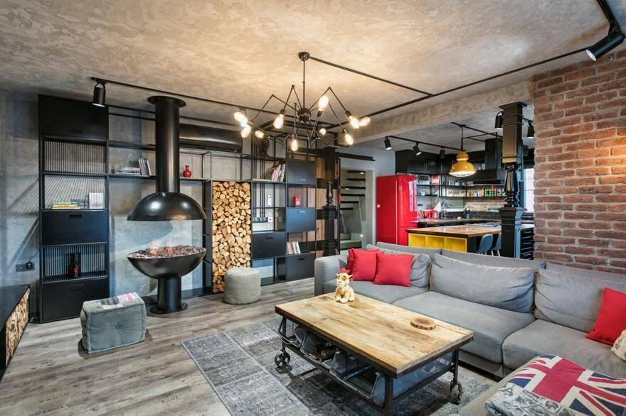 Industrial Style Duplex Residence in Antalya,Turkey: Y Loft