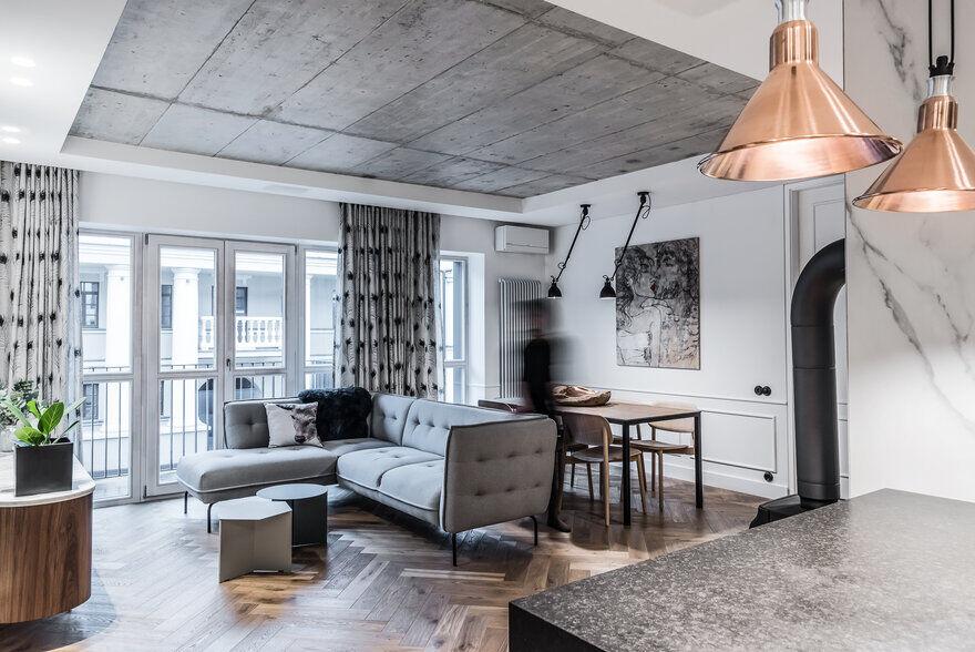 Modern Loft Apartment in Vilnius / Dizaino Virtuve 2