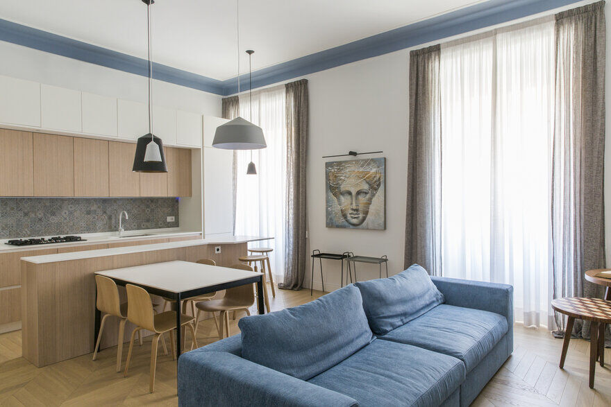 New Roman Home for a Young Couple in the Parioli District