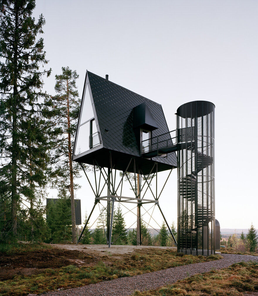 PAN Treetop Cabins Built on Stilts in Norwegian Forest