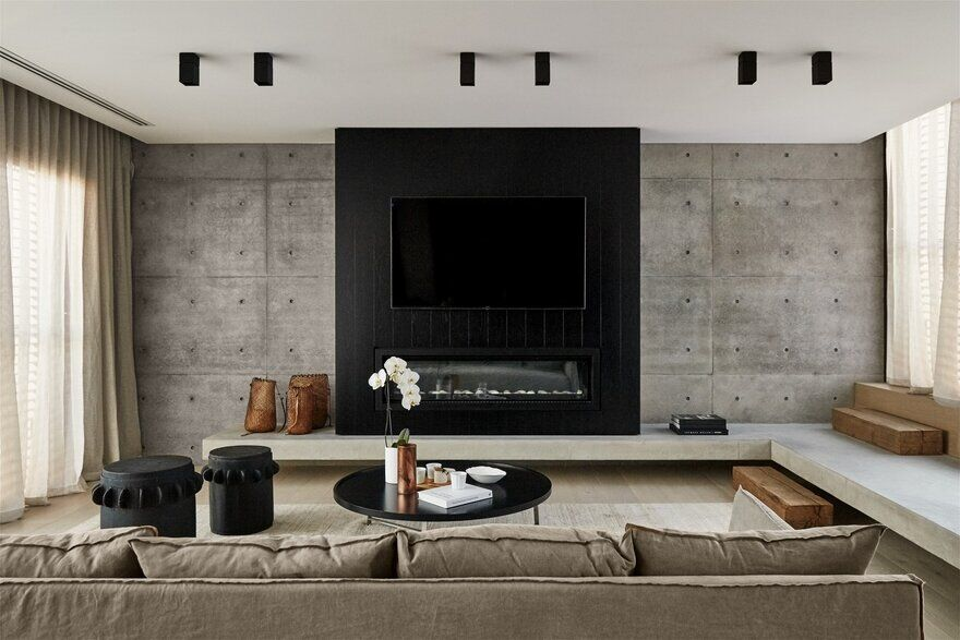 living room, Concrete Family House
