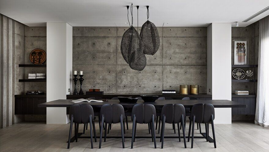 dining room, Concrete Family House