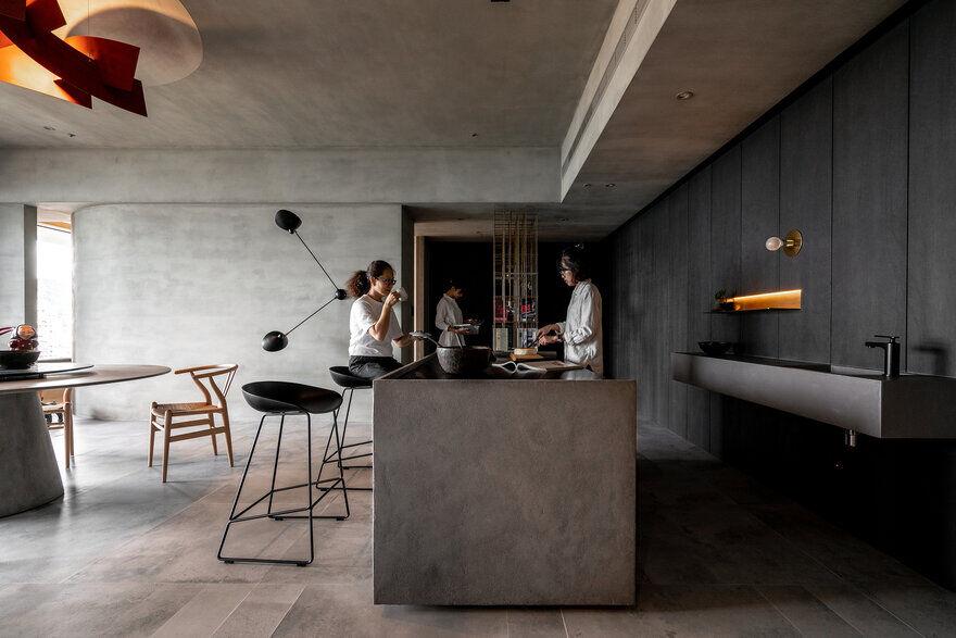 Grey-Toned Apartment in Taipei / Wei Yi International Design Associates