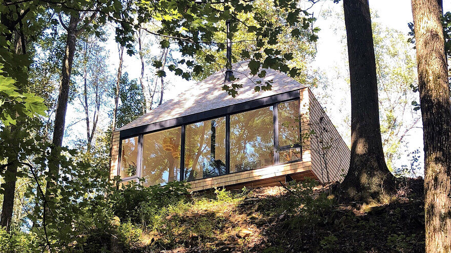 Cedar-Clad Cabin Inspired by Scandinavian Design and the 'Hygge' Mindset