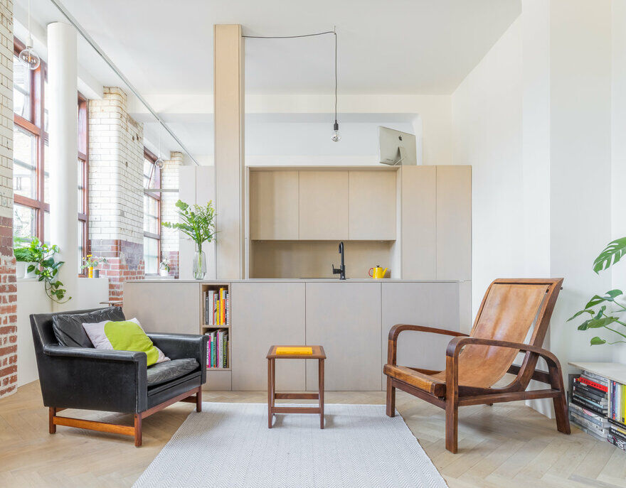 Live/Work Apartment in a Former Biscuit Factory in Bethnal Green, London
