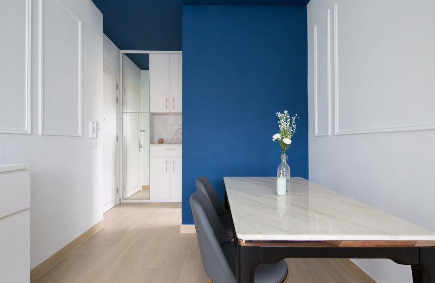 Deep Blue Valentine Apartment by Sim-Plex Design Studio
