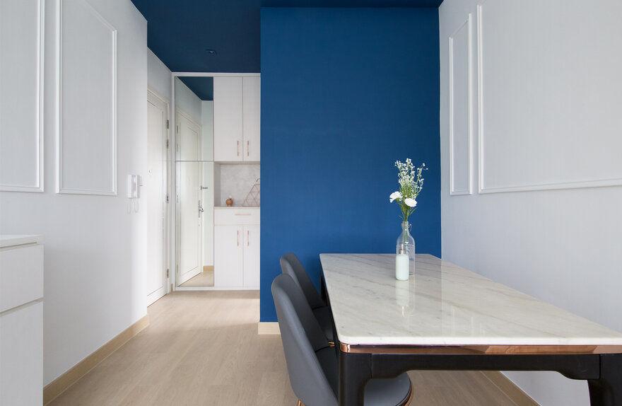 Deep Blue Valentine Apartment by Sim-Plex Design Studio