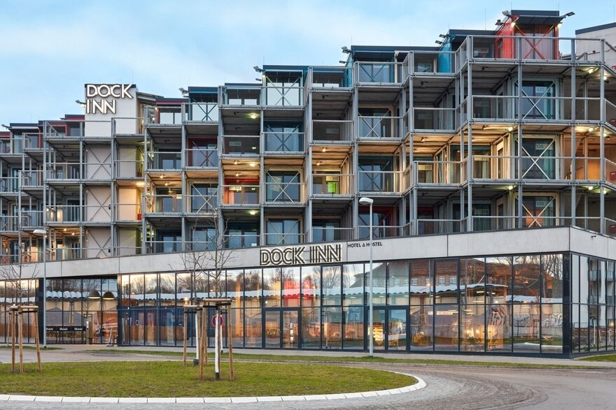 Container Hostel in Germany with an Industrial Twist